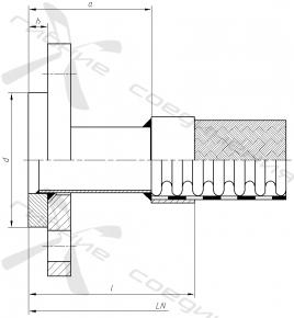 ФВ. Фланцевое соединение по ГОСТ 12822-80
