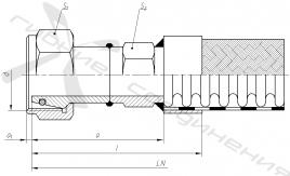 ВЛ. Гайка накидная с метрической резьбой под ниппель-конус 24 градуса (Л – серия)