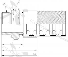 Г. Ниппель приварной с наружной трубной цилиндрической резьбой