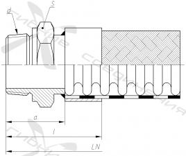 ГК. Ниппель приварной с наружной дюймовой трубной конической резьбой