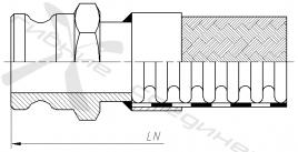 КА, ГКА. Быстроразъёмное соединение типа Camlock, адаптер