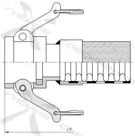 КБ, ГКБ. Быстроразъёмное соединение типа Camlock, муфта