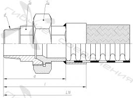 ЦР. Муфта соединительная с уплотнением на конус и наружной трубной конической резьбой.