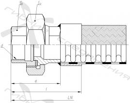 Ш. Муфта соединительная с торцевым уплотнением и внутренней трубной цилиндрической резьбой