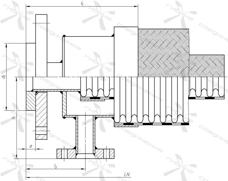 Рукав «термостат» с фланцевыми окончаниями