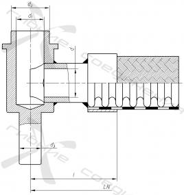 СУГ45-1. Присоединительная арматура для слива-налива СУГ, тип 1