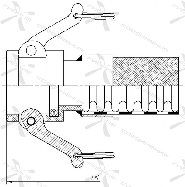 КБ. Быстроразъёмное соединение типа Camlock, муфта&width=268