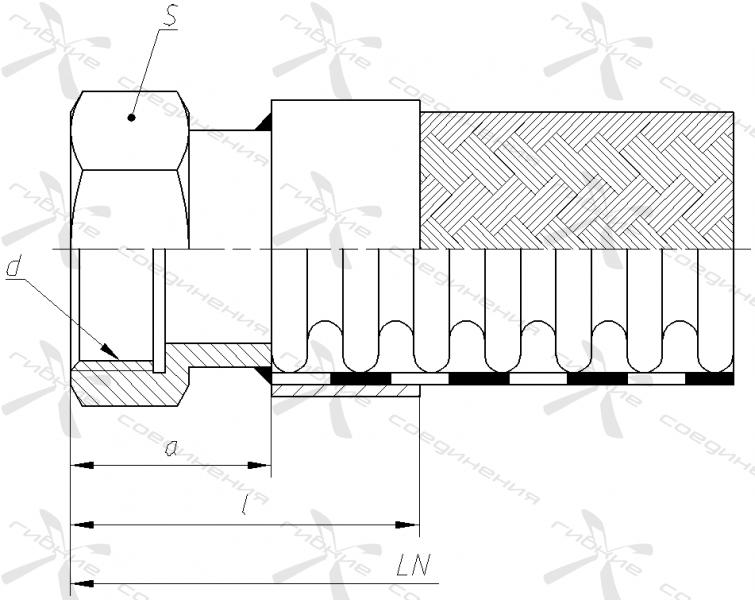 Д. Гайка приварная с внутренней трубной цилиндрической резьбой