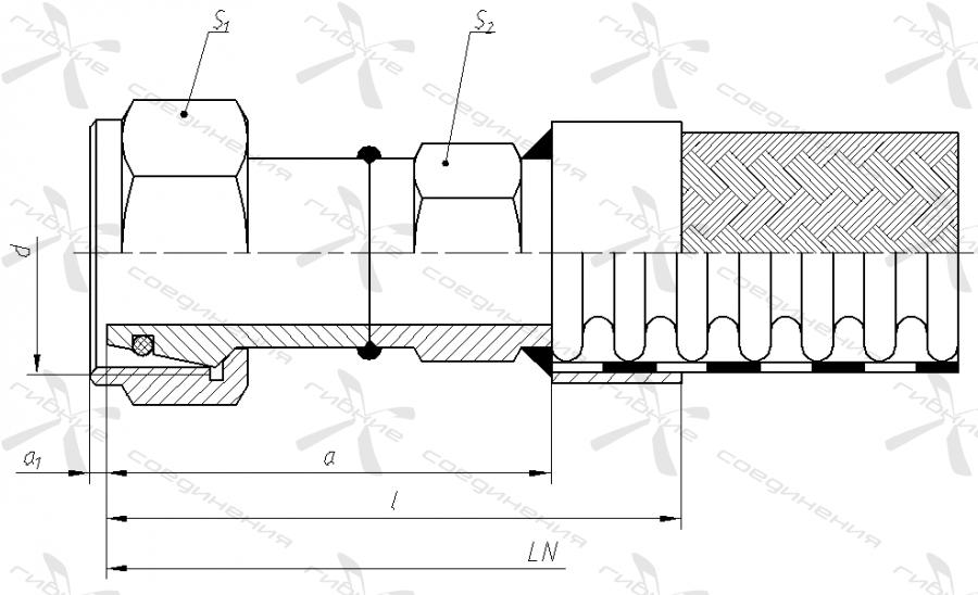 ВЛ. Гайка накидная с метрической резьбой под ниппель-конус 24 градуса (Л – серия)&width=268