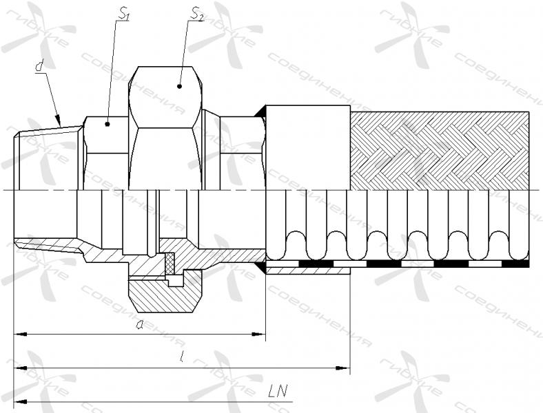 ЧР. Муфта соединительная с торцевым уплотнением и наружной трубной конической резьбой.&width=268