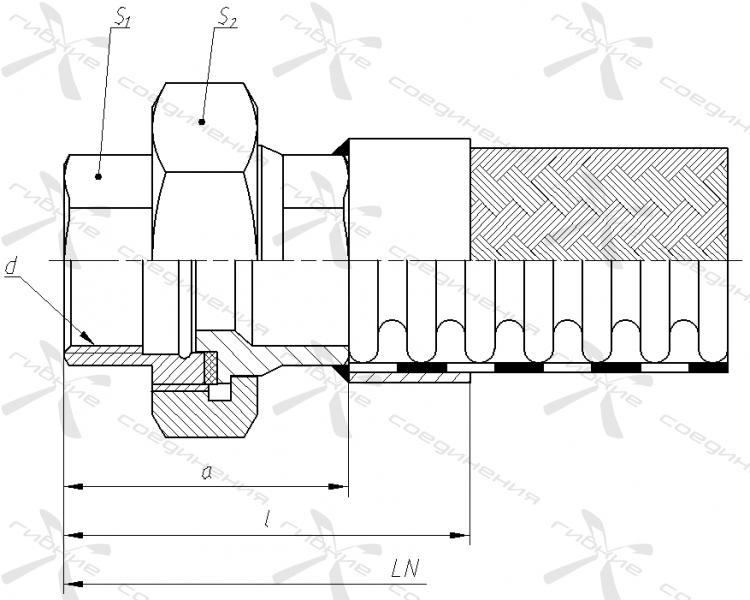 Ш. Муфта соединительная с торцевым уплотнением и внутренней трубной цилиндрической резьбой&width=268