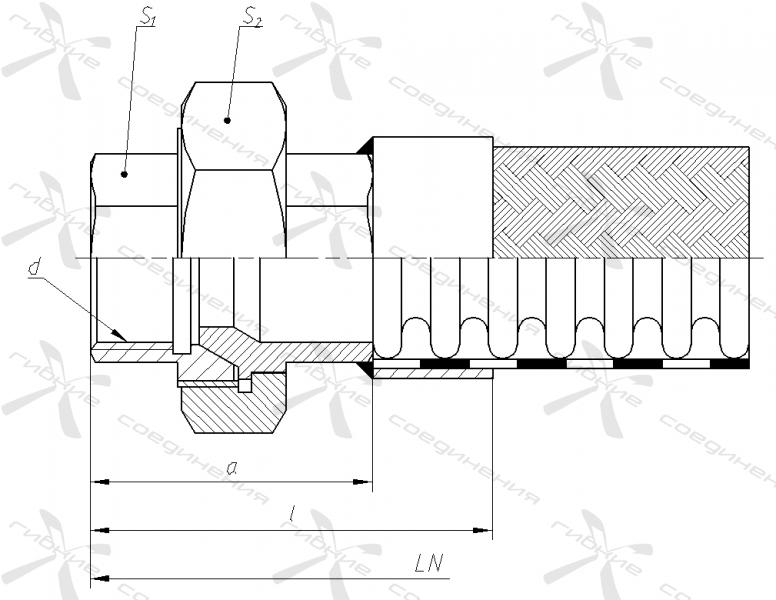 Щ. Муфта соединительная с уплотнением на конус и внутренней трубной цилиндрической резьбой&width=268