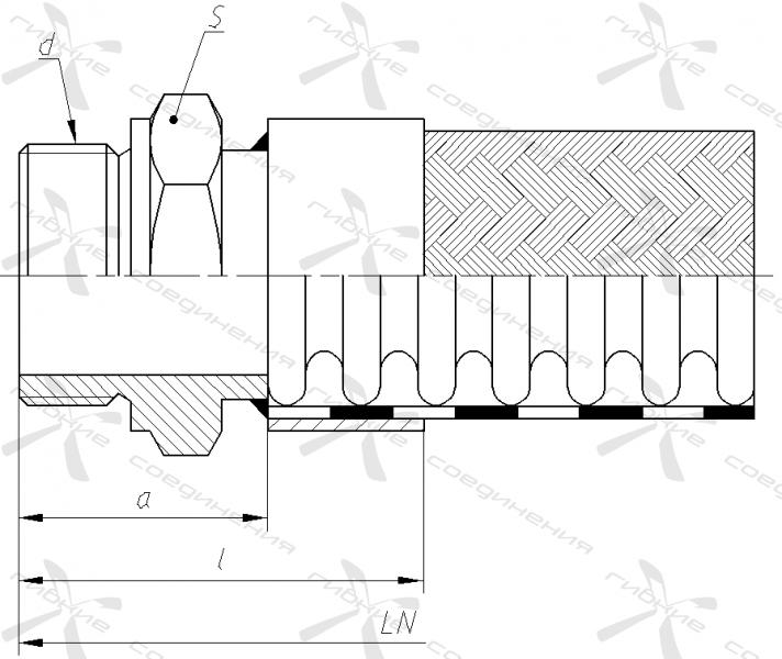 Г. Ниппель приварной с наружной трубной цилиндрической резьбой&width=268