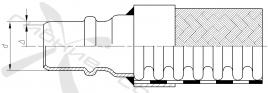 П. Соединение под приварку, стандартная серия