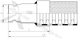 ХК. Трубное окончание с канавкой под установочный винт